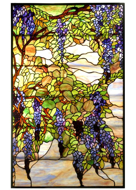 tiffany stained glass l meyda 68442 tiffany wisteria snowball stained glass window