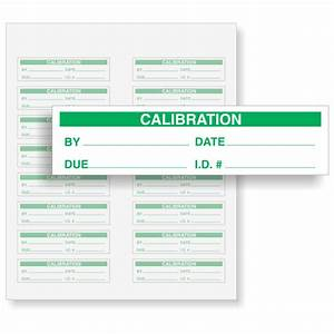 calibration With custom calibration labels