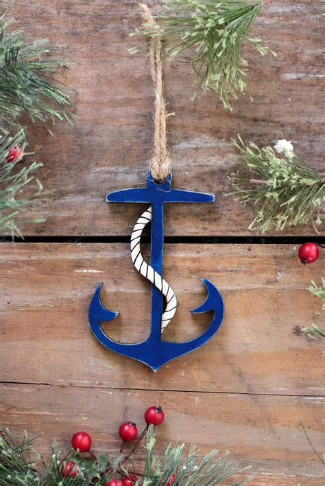 anchor ornament handmade   usa  weed patch