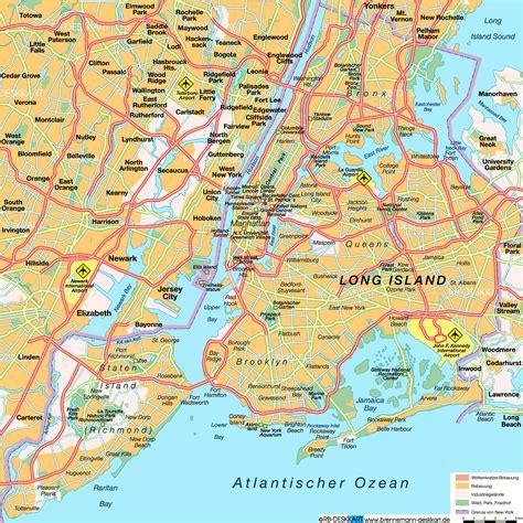 map   york city  united states welt atlasde