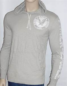 American Eagle Outfitters Mens Pale Gray Long Sleeve ...