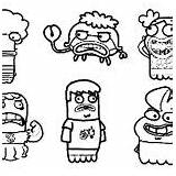 Coloring Fish Hooks Characters Pages Character sketch template