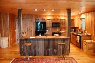 custom made reclaimed wood rustic kitchen cabinets by