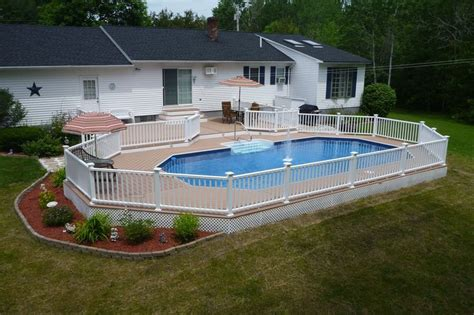 radiants keystone semi inground pool   perfect