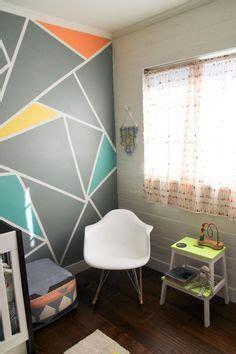 painting geometric shapes on walls geometric triangle wall paint design idea with tape painting geometric shapes tape on walls cplt