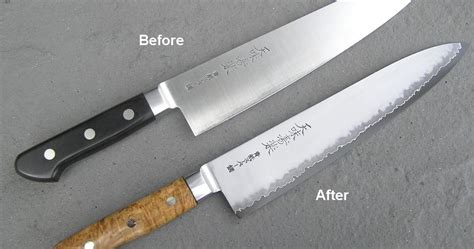 Sharpening Japanese Kitchen Knives by Japanese Knife Sharpening Hiromoto Gyuto The