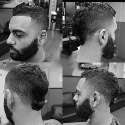 faux hawk fade haircut  men  spiky modern styles