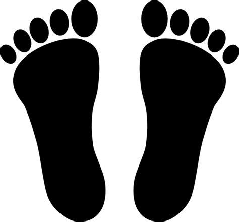 footprint clipart two footprints black clip at clker vector clip