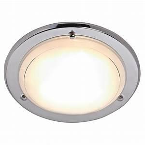 Wilko flush fitting ceiling light chrome effect at