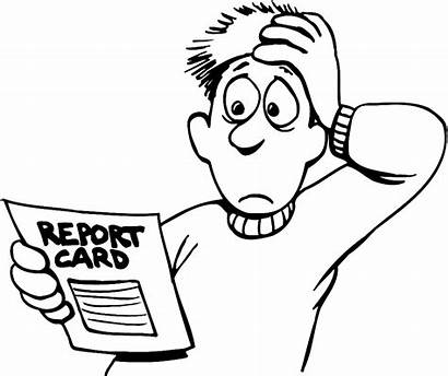 Report Card Clipart Grades Worry Scorecard Attendance