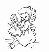 Doll Coloring Pages sketch template