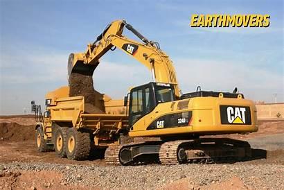 Excavator Caterpillar Digger Wallpapers Komatsu Desktop Cat