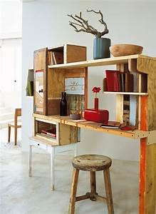 Planche De Bureau : un bureau en planches de r cup marie claire ~ Teatrodelosmanantiales.com Idées de Décoration