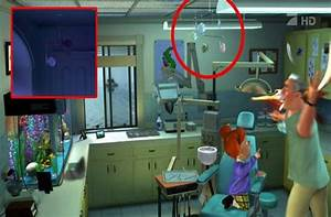 Image fish mobile pixar wiki fandom powered by wikia for Monsters inc bathroom scene