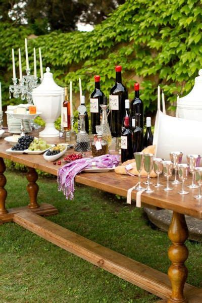 outdoor wine buffet table buffet table wine tasting