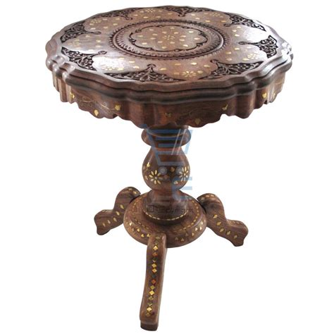 hand carved end tables small side table hand carved brass inlay indian end l