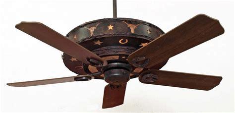 copper canyon longhorn ceiling fan rustic lighting  fans