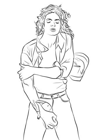 michael jackson king  pop coloring page