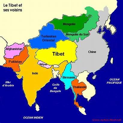 Asie Carte Pays Monde Tibet Une Litteraire