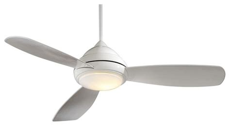 contemporary white ceiling fan 52 quot minka aire concept i white ceiling fan modern
