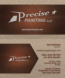 Precise painting business card tmaindesignscom for Painting business cards ideas