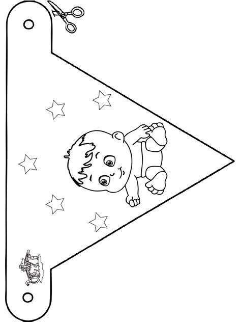 Dieren Vlaggetjes Kleurplaten by Baby Vlaggetje 4 Kleurplaten Baby