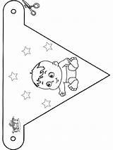 Kleurplaten Kleurplaat Romper Slinger Geboorte Zoeken Knutselen Vlaggetjes Coloring Thema Babys Nascita Bezoeken Bandierina Bebe Afkomstig sketch template