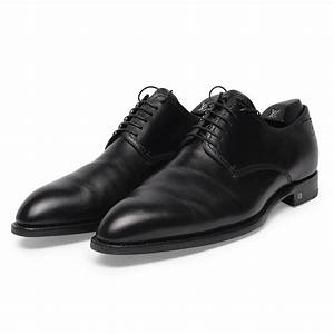 Louis Vuitton Black Bespoke Lace-up Dress Shoes » Blue Spinach