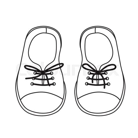 templates zapato viejo hand drawn pair of kids shoes it can be used for