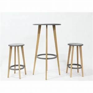 Tabouret Table Haute : table de bar ronde design blanche harry 39 s by drawer ~ Teatrodelosmanantiales.com Idées de Décoration