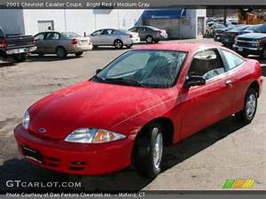 Bright Red - 2001 Chevrolet Cavalier Coupe - Medium Gray ...