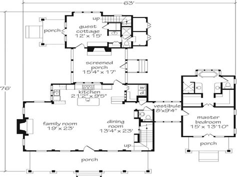 Southern Floor Plans by Southern Living Floor Plans With Guest Houses Southern