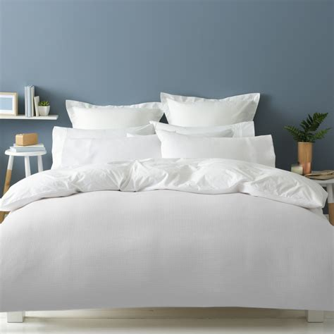 set bed cover waffle quilt cover set bed kmart