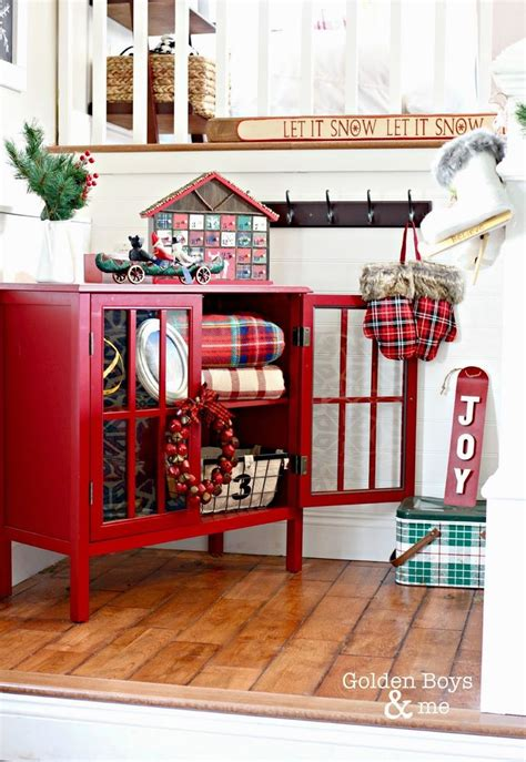 christmas entryway ideas  pinterest christmas