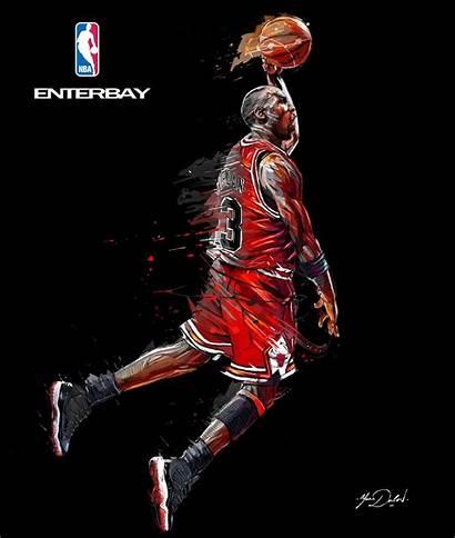 Jordan Michael Cartoon Nba Enterbay Wallpapers Chicago