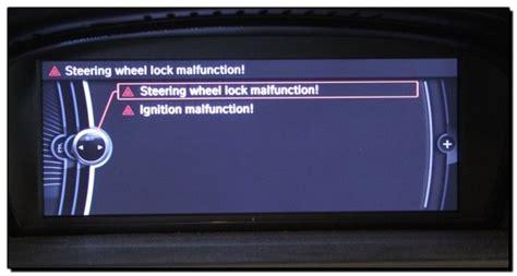 bmw elv steering lock malfunction fault repair