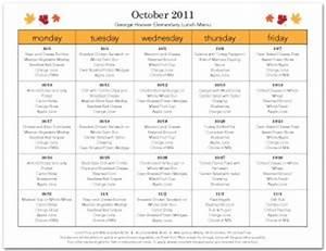 school cafeteria menu template cafeteria menus With school lunch calendar template