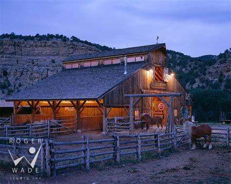 barn rustic horse ranch barns cattle timber horses architectural colorado frame interior dream colona stables twilight studio private roger portfolios