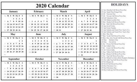 sri lanka printable calendar excel word printable