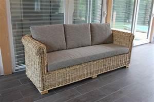 Rattan 2 Sitzer : liegen sofas und schaukler rattansofa chelsea ~ Whattoseeinmadrid.com Haus und Dekorationen