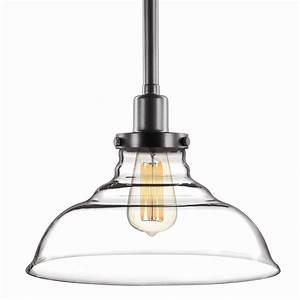 Brilliant cm milton clear glass pendant light shade