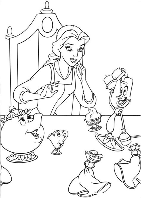 printable beauty   beast coloring pages  kids