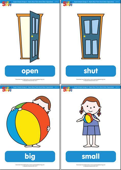 open shut  flashcards super simple