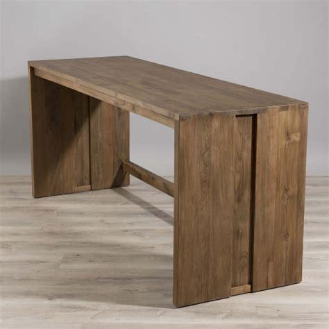 bureau en bois bureau bois teck 180x60 tinesixe