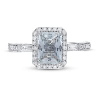 neil lane aquamarine engagement ring  ct tw diamonds  white gold kay