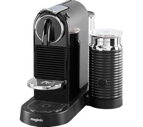 espresso machine black buy nespresso by magimix citiz milk coffee machine