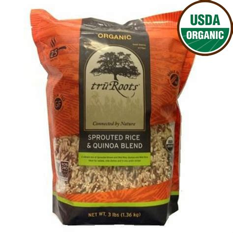 Truroots Organic Sprouted Rice And Quinoa Blend  Lb Bag