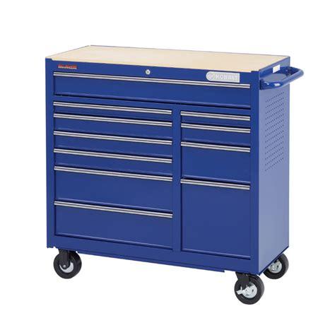shop kobalt 11 drawer 41 1 quot steel tool cabinet blue at