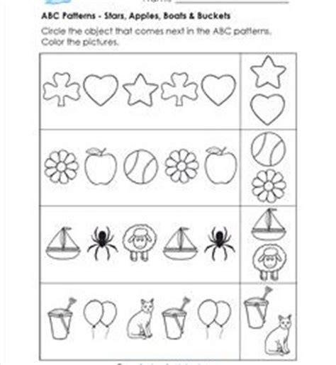 abc patterns kindergarten pattern worksheets