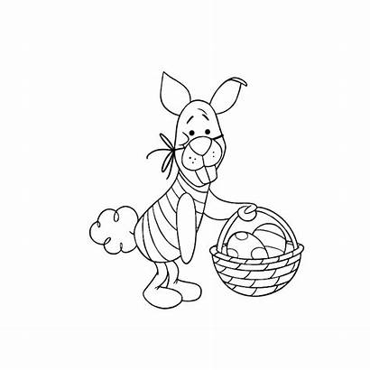 Coloring Pooh Winnie Easter Egg Piglet Decorating